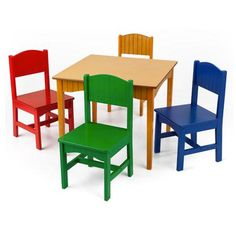 KidKraft - Nantucket Table & Primary Chairs | West Coast Kids