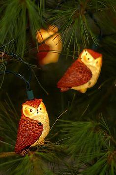 Owl Lights Pinned by www.myowlbarn.com