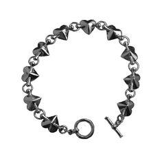 Heart Bead Bracelet by Han Cholo   #gunmetal #hancholo #jewelry