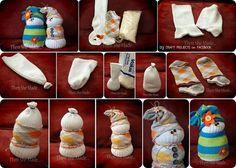 DIY Sock Snowmen