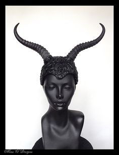 MADE TO ORDER Faux Horn & Leather Helmet by MissGDesignsShop, $150.00