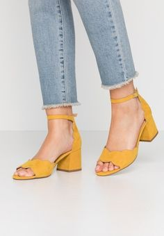 Out Of Style, Off White, Heeled Mules, Going Out, Yellow, Heels, Black, Fashion, High Waist