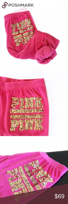 Spotted while shopping on Poshmark: • PINK • Bling Sweats! #poshmark #fashion #shopping #style #PINK Victoria's Secret #Pants