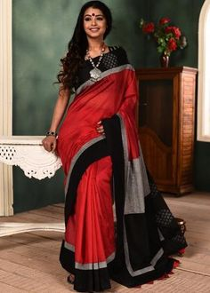 9ca7848c09 14 Best White saree images in 2018   Indian clothes, Black, white ...