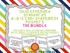 Common Core Extended Standards 6-8 BUNDLE I Can Statement Posters
