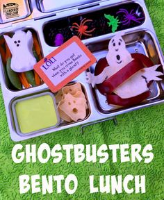 Ghostbusters Bento Lunch. This is perfect for Halloween. See the recipe on my blog Lunchboxdad.com