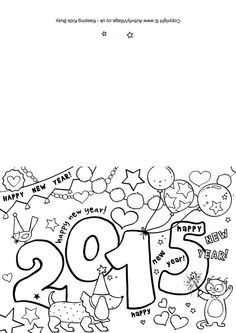 Festive New Year Hat Coloring Page Worksheets Holidays and