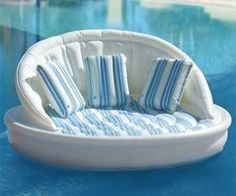 floating sofa for the pool. this is for when I get my pool in my backyard. Living Pool, Outdoor Living, Relax, Pool Toys, Water Toys, Cool Pools, Cool Stuff, Outdoor Fun, My Dream Home