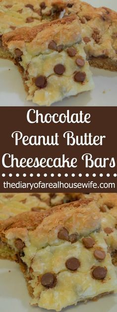 Chocolate Peanut Butter Cheesecake Bars. These are so yummy!! You need to try this they are the BEST!!