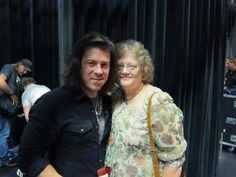 Christian Kane and his mother after one of his concerts