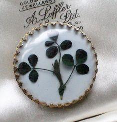 VINTAGE JEWELLERY IRISH SHAMROCK/CLOVER FLOWER BROOCH/PIN ST PATRICKS DAY