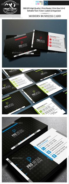 This smart and high quality 3 Colors Modern Corporate business card template can used for all purpose Corporate or personal. can e