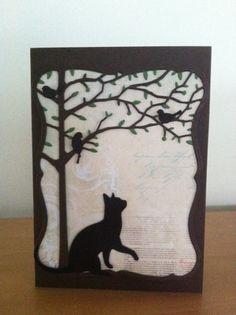 Wishful thinking cat card!