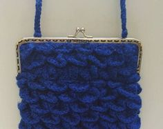 Crocodile Stitch, Blue Flowers, Bag Making, Coin Purse, Creations, Sewing, Purse, Bags, Costura