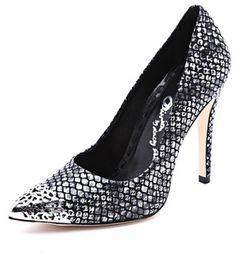 ShopStyle.com: Alice   olivia Devon Metallic Snake Print Pumps $345.00