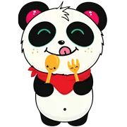 Pandi Facebook Sticker - Sticker Sort Panda Love, Funny Stickers, Kawaii Cute, Mickey Mouse, Hello Kitty, Disney Characters, Fictional Characters, Doodles, Sugar