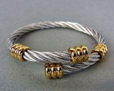 PHILIPPE CHARRIOL CELTIC SILVER & GOLD Tone Design bracelelet
