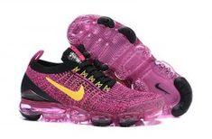 4f5d064ab2 Nike Air Vapormax Flyknit 2019 Black Vivid Pink Yellow AJ6900-105 Women's  Men's Running Shoes