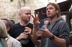 Marc Forster y Brad Pitt