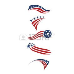 USA star flag and stripes design elements  Stock Vector - 28915057