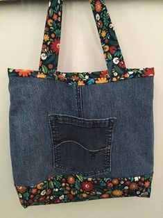 Items similar to Blue Jeans Bag on Etsy, Denim Handbags, Denim Tote Bags, Diy Jeans, Blue Jeans, Recycle Old Clothes, Slouch Bags, Denim Ideas, Denim Crafts, Recycled Denim