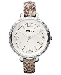 172157598dd Fossil Women s Heather Snake Print Leather Strap Watch 42mm ES3193 Jewelry    Watches - Watches - Macy s