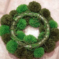 Mossy look pompom wreath