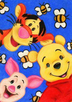 Winnie, Piglet and Tigger by Eviethelion.deviantart.com