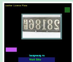 Leather license plate 155119 - The Best Image Search