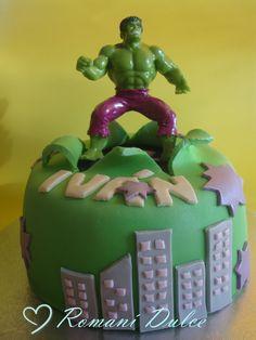 "PASTEL DE FONDANT DE ""EL INCREÍBLE HULK"" Boy Birthday, Birthday Cake, Marvel Cake, Cakes For Boys, The Incredibles, Christmas Ornaments, Holiday Decor, Desserts, Hulk Birthday"