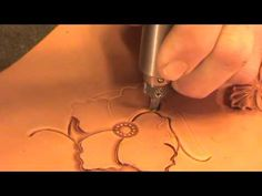 Leather working technique Leather work Technique Leather Carving Hints & Tips #3 Flow to origin