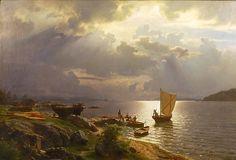 Hans Gude (1825-1903): Sommerdag på Christianiafjorden, 1868