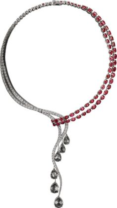 High Jewelry necklace - White gold, rubies, diamonds - Cartier (=)