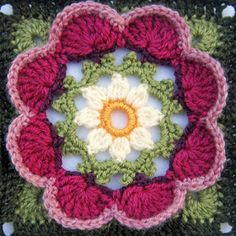 knit & crochet design: Lily Pond CAL - Block Seven