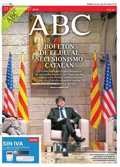 La portada de ABC del jueves 13 de abril