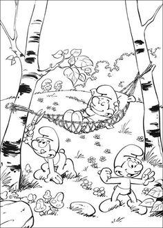 Smølferne Tegninger til Farvelægning. Printbare Farvelægning for børn. Tegninger til udskriv og farve nº 10
