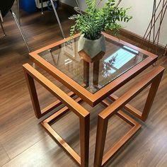 Welded Furniture, Steel Furniture, Unique Furniture, Home Decor Furniture, Furniture Design, Glass Furniture, Modern Square Coffee Table, Coffee Table Design, Home Room Design