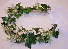 ☆Des Magnolias sur ma voie lactée☆: Couronne lierre*gypsophile et composition florale ...