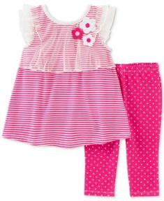 cd3542072 Kids Headquarters 2-Pc. Striped Tunic & Polka Dot Capri Pants Set, Toddler  & Little Girls (2T-6X) & Reviews - Sets & Outfits - Kids - Macy's