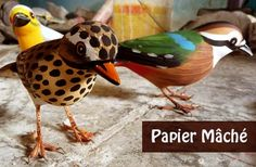 Papier Mâché - Kashmir(paper, clay gum), Orissa (paper, cloth, clay, gum), Jharkand makes the famous chhou mask from papier mache, Ujjain and Gwalior in MP, Pondicherry, Maharashtra, Delhi, Assam, Bihar, GJ, Rajasthan, WB.