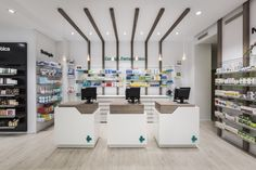 Destudio | Farmacia Cuenca Clinic Interior Design, Clinic Design, Showroom Design, Pharmacy Store, Drug Store, Retail Concepts, Stationary Design, Booth Design, Retail Design