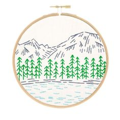 National Parks Rocky Mountains Embroidery Kit