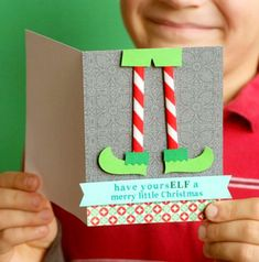 Send a personal and simple seasonal greeting with our handmade christmas cards. Send a personal and simple seasonal greeting with our handmade christmas cards. Punny Christmas Cards, Homemade Christmas Cards, Merry Little Christmas, Christmas Tag, Homemade Cards, Christmas Ecards, Christmas Wrapping, Family Christmas, Christmas Card Ideas With Kids