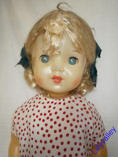 Кукла советская СССР паричковая парик