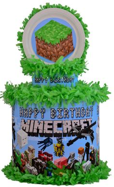 World of Pinatas - Minecraft Friends Personalized Pinata, $39.99 (http://www.worldofpinatas.com/minecraft-friends-personalized-pinata/)