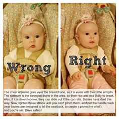 Read this! I see too many pictures of kids with their straps done wrong or too loose!