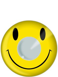 What the heck?!  Smiley Face Contact Lenses (23716) £19.99 #fancydress
