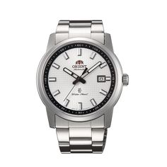 Buy online #White Dial Silver Metal Strap Round Shape #Watch @ http://www.orientwatch.in/ for Rs.10,792.50/-