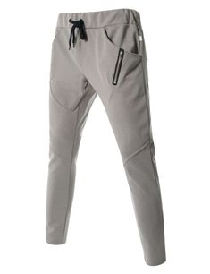 3f35a394524462 (MZP09) TheLees Running Trousers Diagonal Line Zipper Active Jogger  Sweatpants. Pantaloni Da Uomo ...
