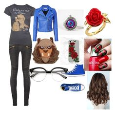 """""""Fan outfit"""" by hphillips636 on Polyvore featuring Disney Couture, Balmain, Disney, Converse and IRO"""
